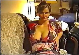 wife flashing large scones in a brassiere